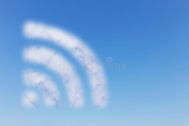 Nuage de WIFI sur le ciel photographie stock