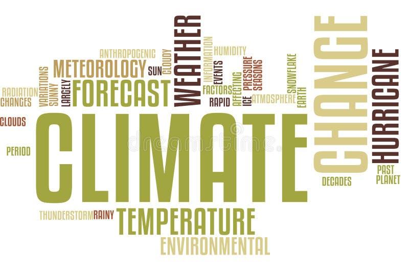Nuage de Word de changement climatique illustration de vecteur
