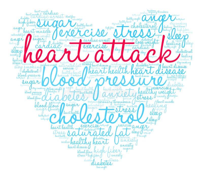 Nuage de Word de crise cardiaque illustration de vecteur