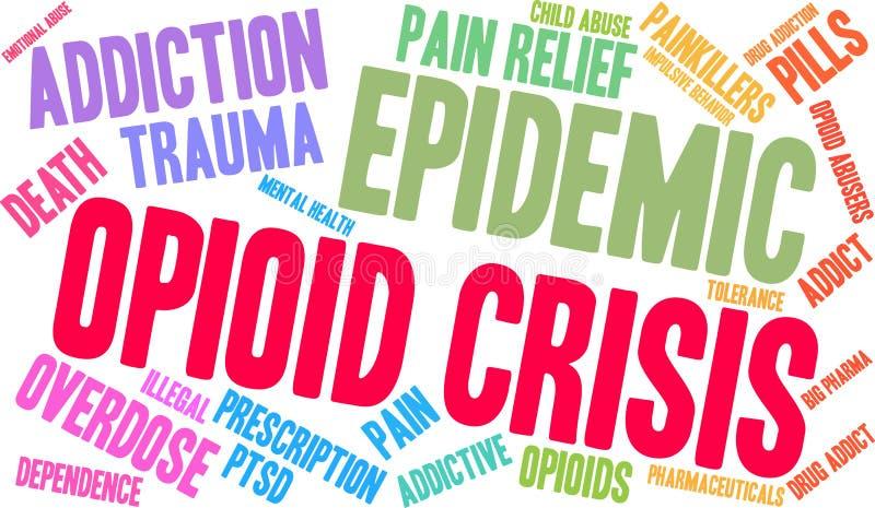 Nuage de Word de crise d'Opioid illustration de vecteur