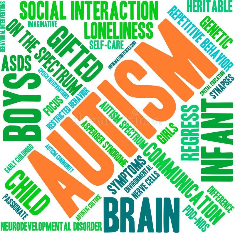 Nuage de Word d'autisme illustration libre de droits