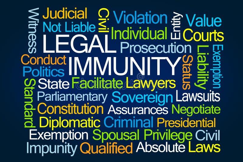 Nuage de Word d'immunité juridique illustration de vecteur