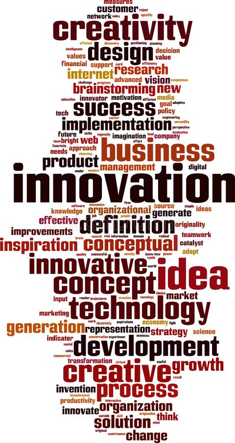 Nuage de Word d'innovation illustration de vecteur
