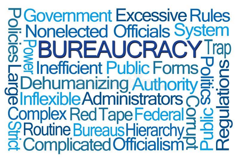 Nuage de Word de bureaucratie image libre de droits