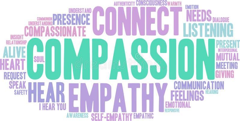 Nuage de Word de compassion illustration stock