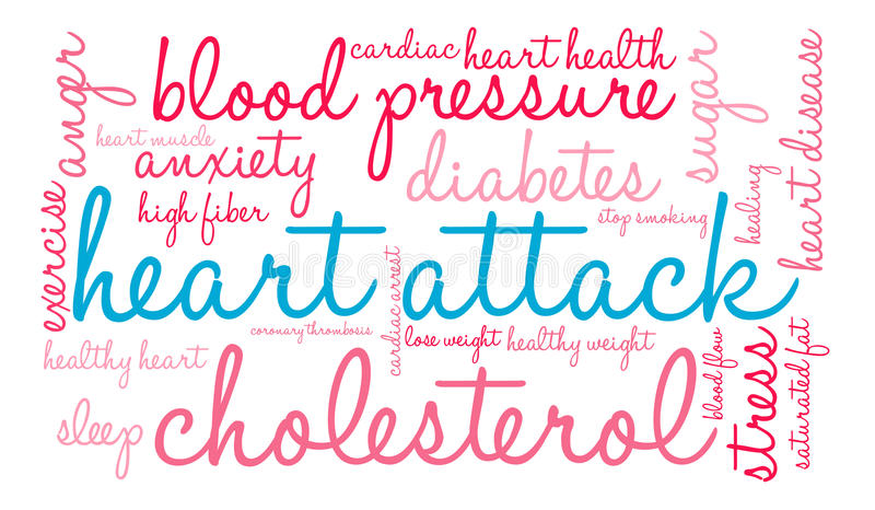 Nuage de Word de crise cardiaque illustration stock