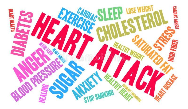 Nuage de Word de crise cardiaque illustration libre de droits