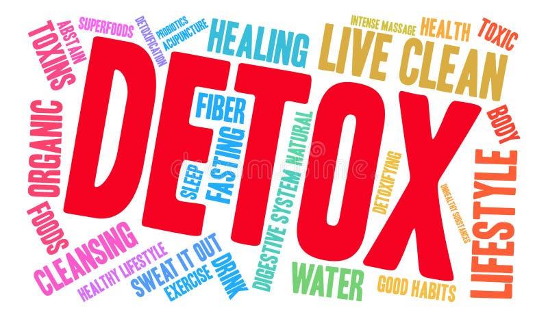 Nuage de Word de Detox illustration de vecteur