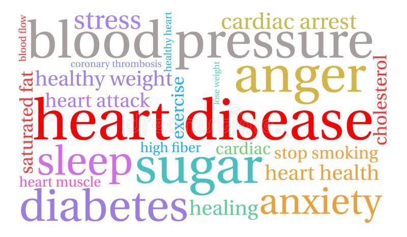 Nuage de Word de maladie cardiaque illustration stock