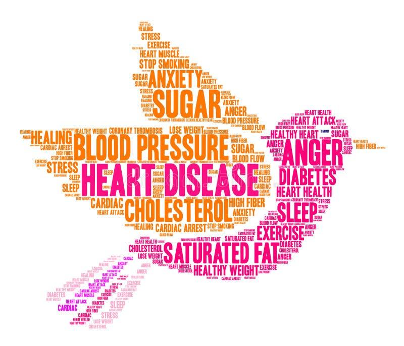 Nuage de Word de maladie cardiaque illustration de vecteur