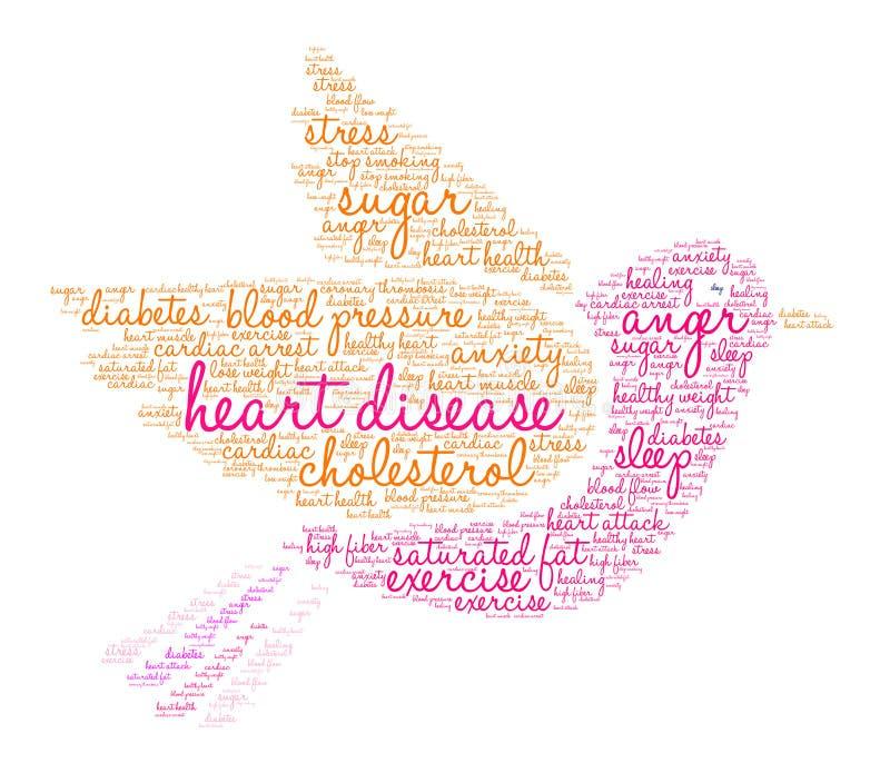 Nuage de Word de maladie cardiaque illustration libre de droits