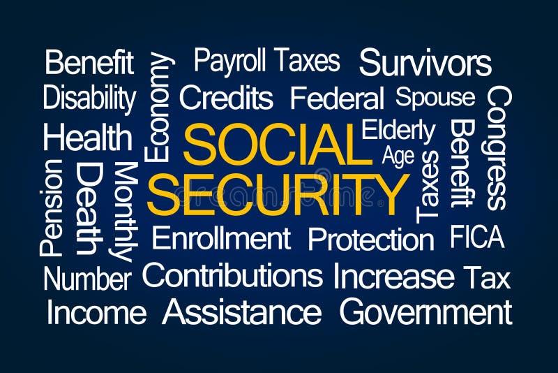 Nuage de Word de sécurité sociale illustration de vecteur