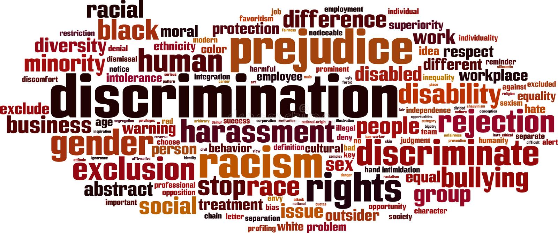 Nuage de Word de discrimination illustration stock