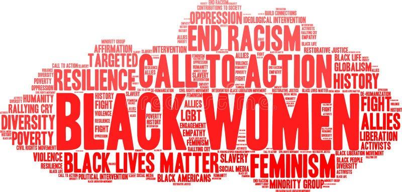 Nuage de Word de femmes de couleur illustration de vecteur