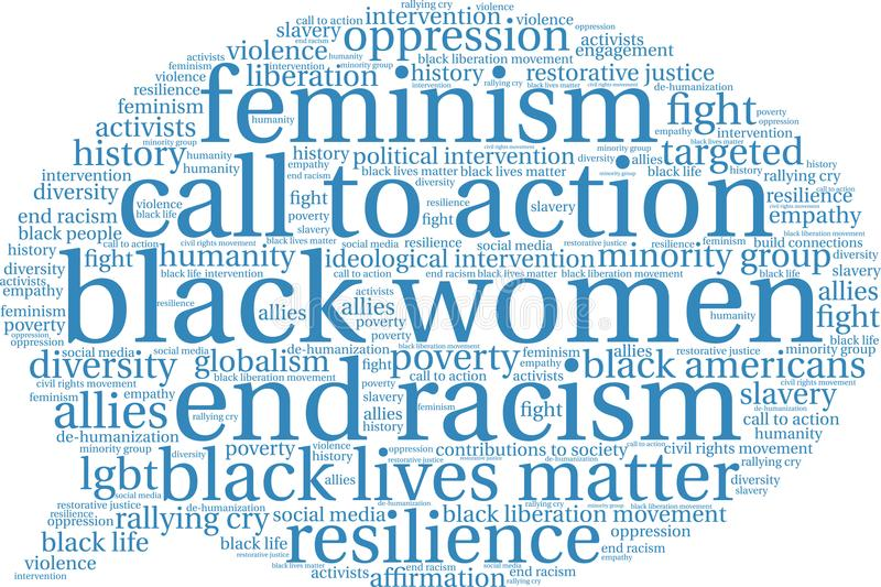 Nuage de Word de femmes de couleur illustration libre de droits