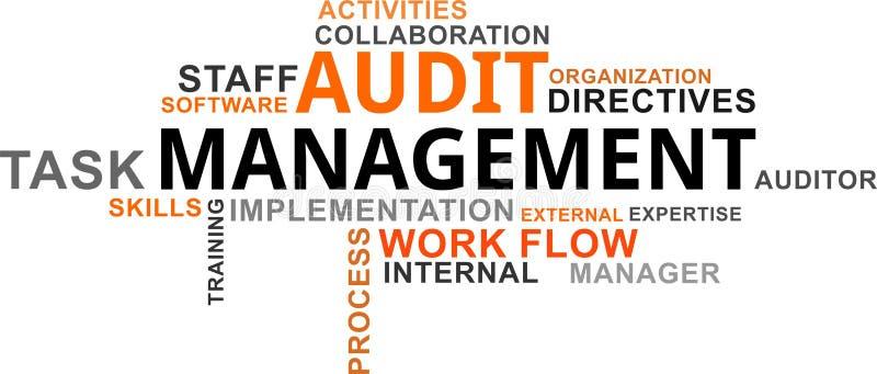 Nuage de Word - gestion d'audit illustration stock
