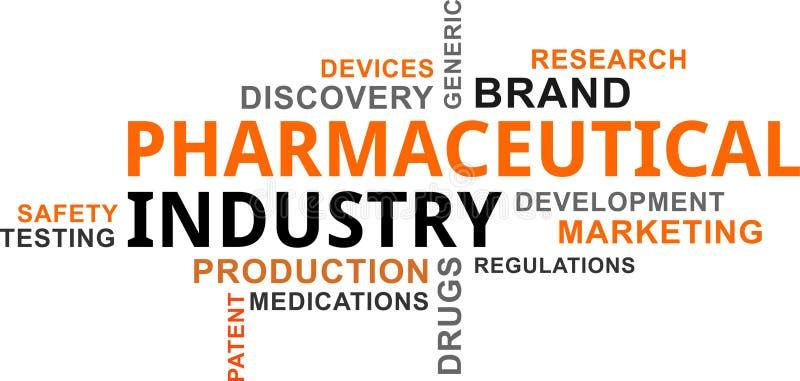 Nuage de Word - industrie pharmaceutique illustration libre de droits