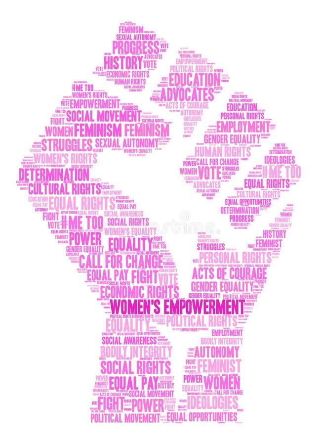 Nuage de Word de l'habilitation des femmes illustration libre de droits