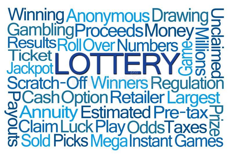 Nuage de Word de loterie illustration de vecteur