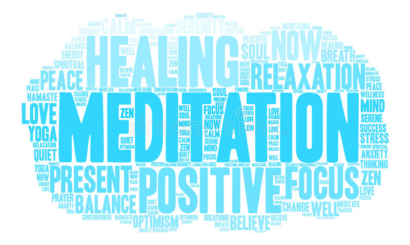 Nuage de Word de méditation illustration stock