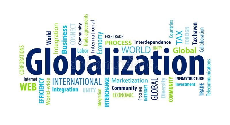 Nuage de Word de mondialisation illustration libre de droits