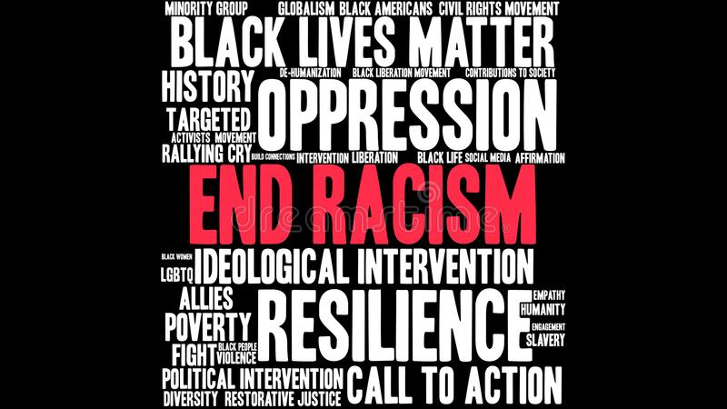 Nuage de Word de racisme de fin illustration stock