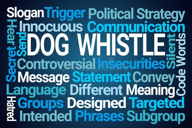 Nuage de Word de sifflement de chien illustration libre de droits