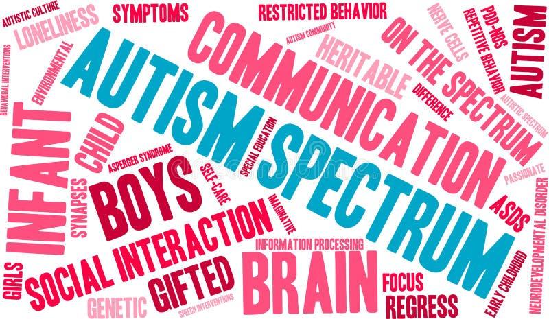 Nuage de Word de spectre d'autisme illustration de vecteur