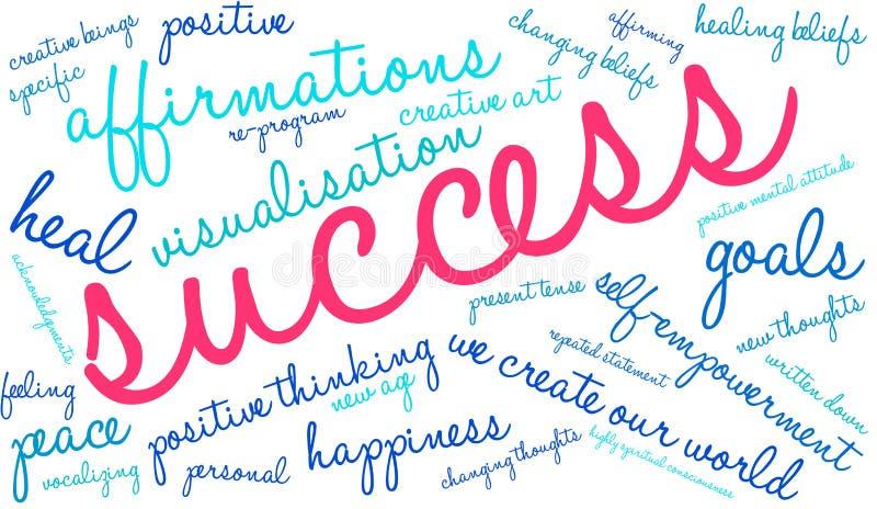 Nuage de Word de succès illustration stock
