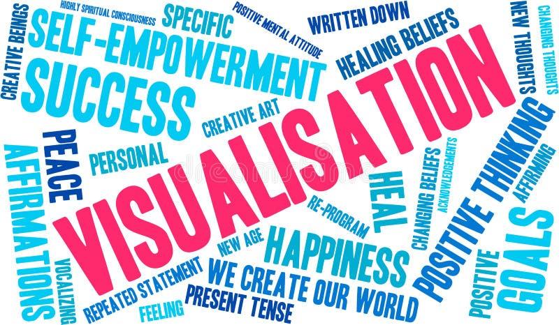 Nuage de Word de visualisation illustration stock