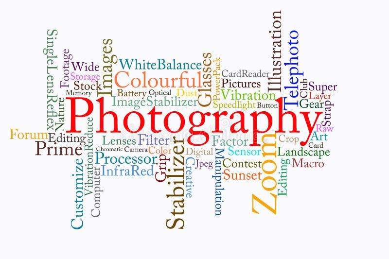 Nuage des textes de photographie illustration libre de droits