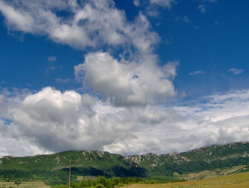Nuage du ciel bleu photo libre de droits