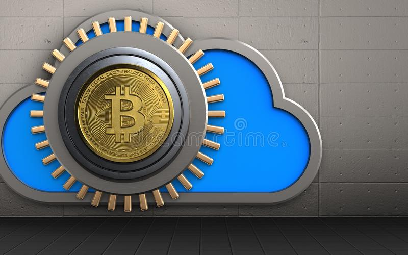 nuage du coffre-fort 3d illustration libre de droits