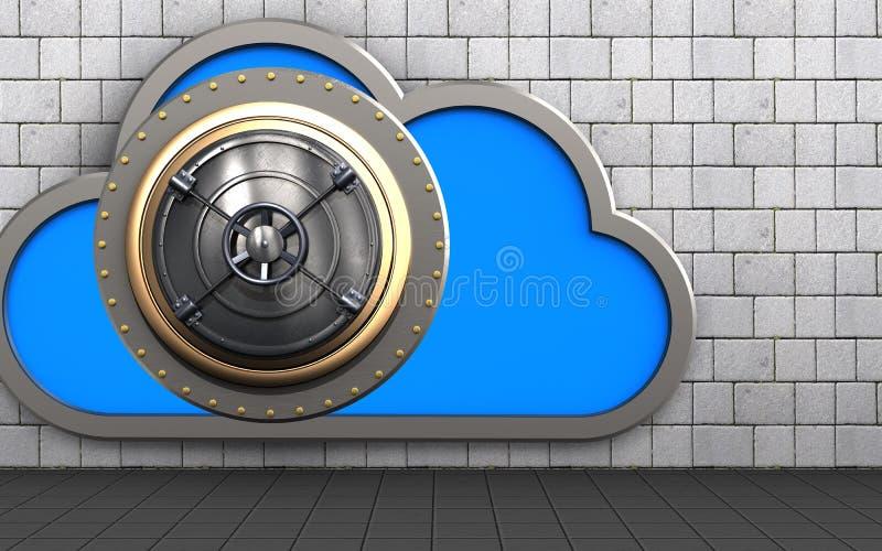 nuage du coffre-fort 3d illustration stock