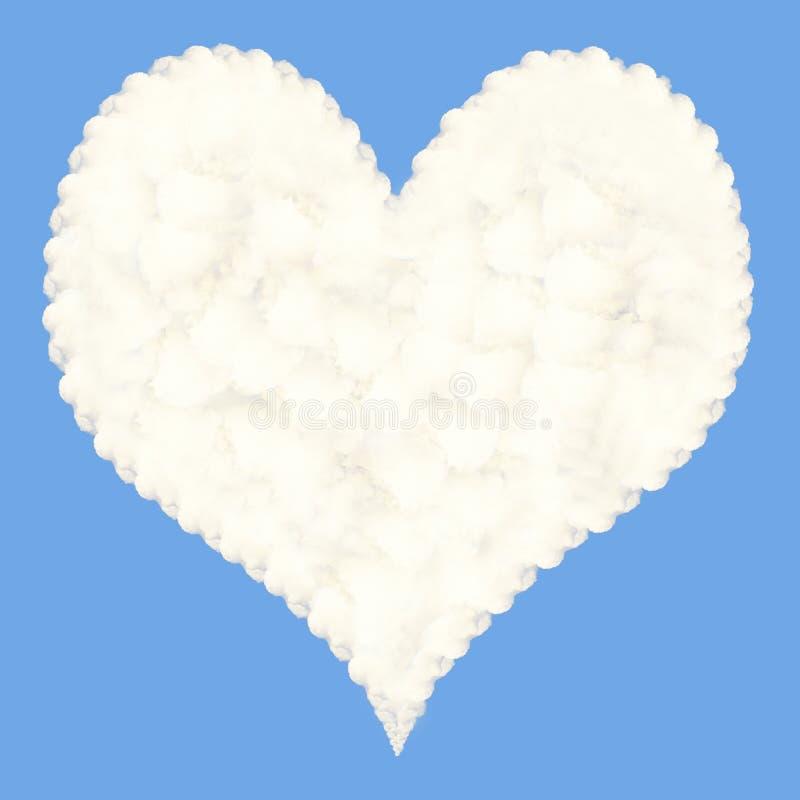 Nuage en forme de coeur photos stock