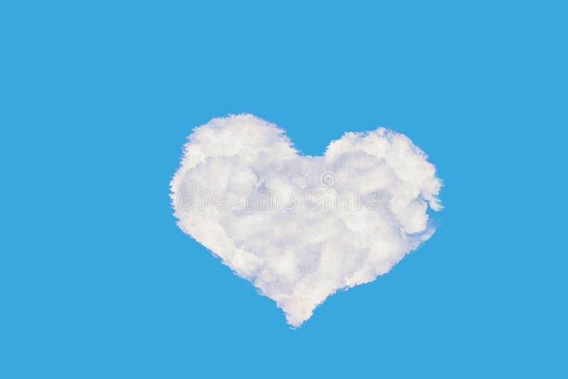 Nuage en forme de coeur illustration stock