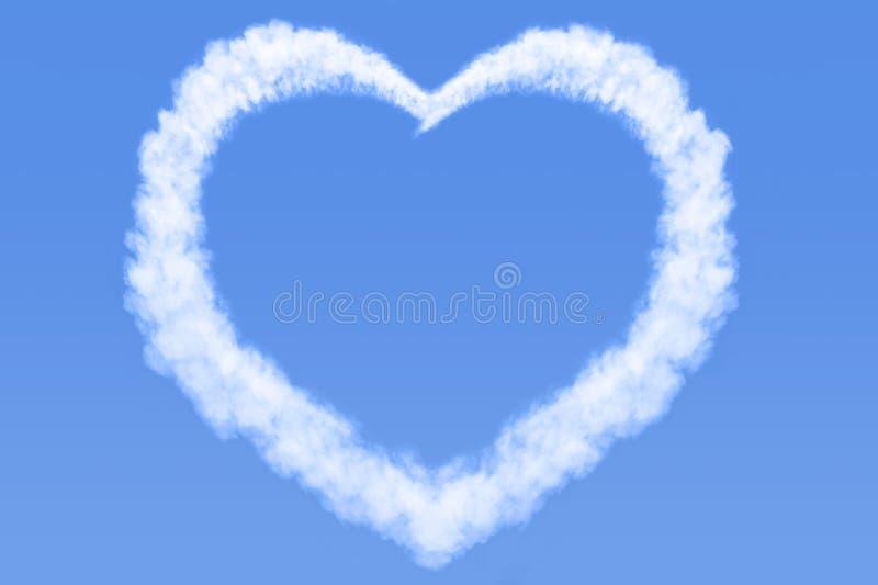 nuage en forme de coeur en ciel bleu photo stock image du pelucheux espace 37463904. Black Bedroom Furniture Sets. Home Design Ideas
