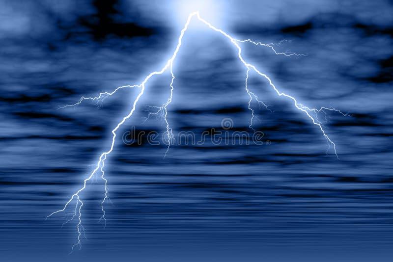 Nuage et foudre de tempête illustration de vecteur