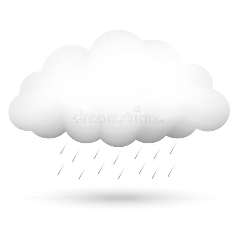 Nuage et pluie illustration de vecteur