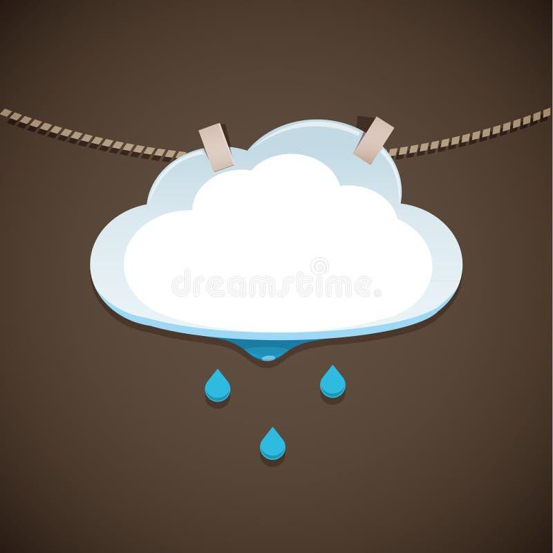 Nuage et pluie d'illustration de concept illustration stock