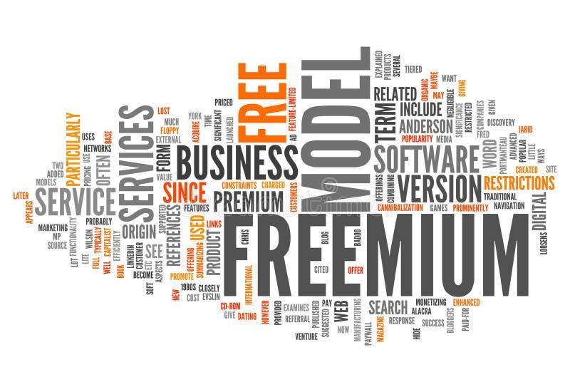 Nuage Freemium de Word illustration libre de droits