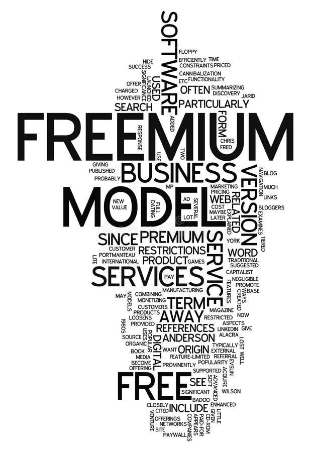 Nuage Freemium de Word illustration de vecteur