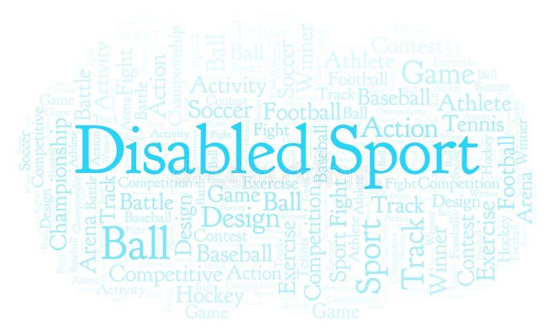 Nuage handicapé de mot de sport illustration stock