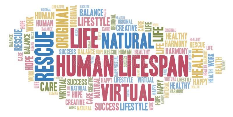 Nuage humain de mot de durée de vie illustration libre de droits