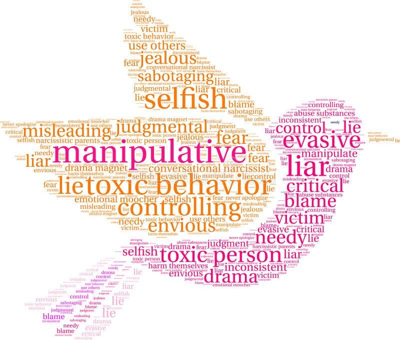 Nuage manipulateur de Word illustration de vecteur