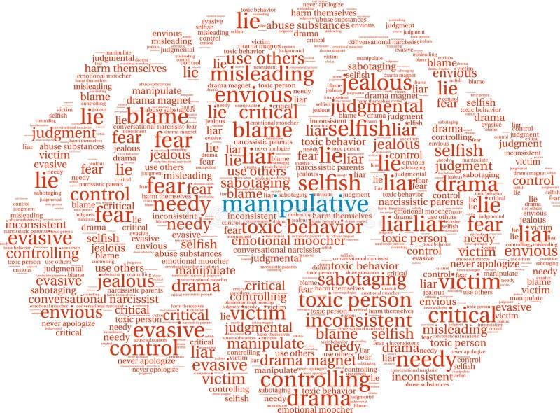 Nuage manipulateur de Word illustration libre de droits