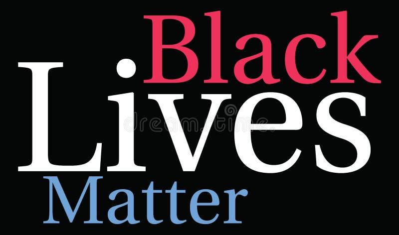 Nuage noir de mot de matière des vies illustration libre de droits