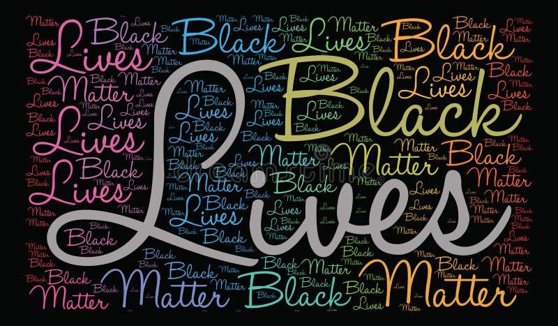 Nuage noir de mot de matière des vies illustration de vecteur