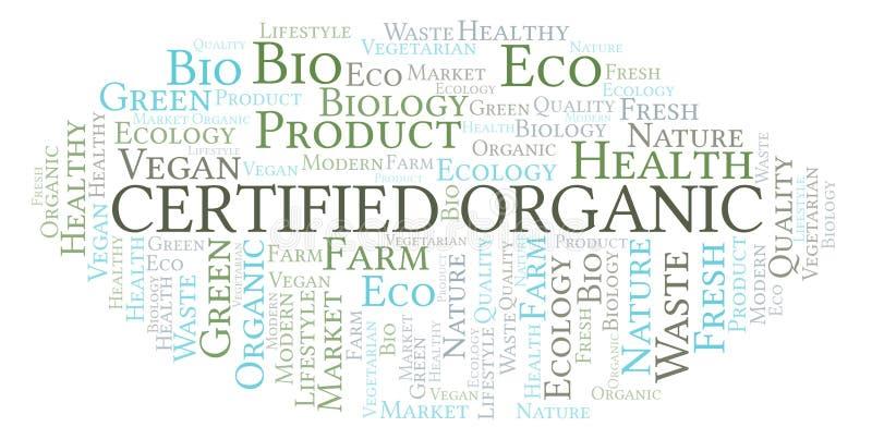 Nuage organique certifié de mot illustration libre de droits