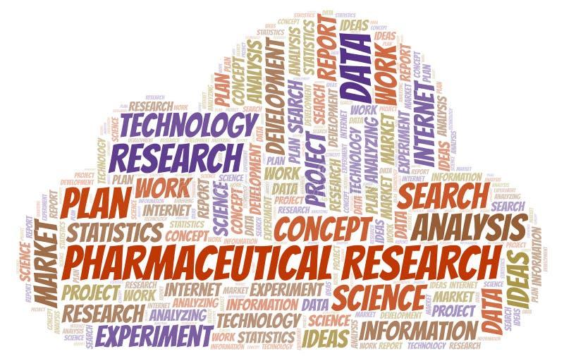Nuage pharmaceutique de mot de recherches illustration libre de droits